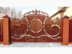 Кованые ворота в Тюмени