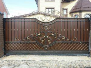 Ворота откатные №5 цена Тюмень