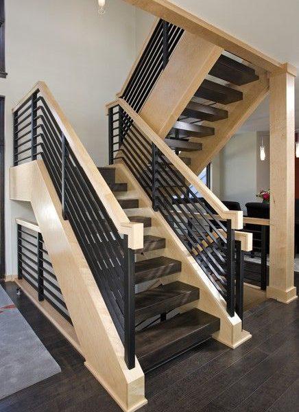 Металлическая лестница для второго этажа в Тюмени