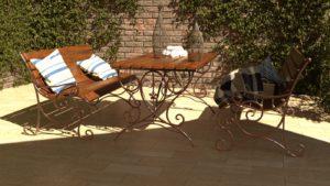 скамейки садовые со столиком