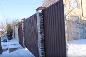 забор из профнастила Тюмень цены под ключ