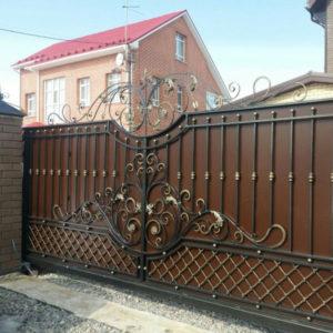 Кованые откатные ворота Тюмень