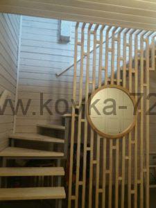 Дизайнерские кованые перила для лестницы Тюмень