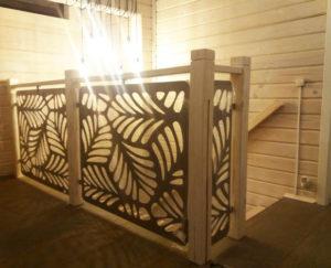 кованые перила для лестницы Модерн