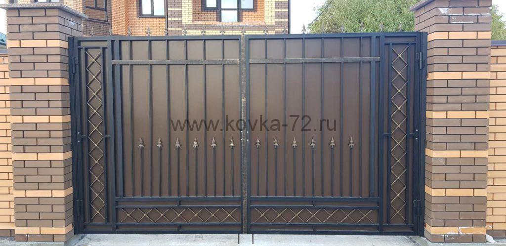 Кованые забор и калитка с индивидуальным дизайном 5
