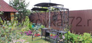 Преимущества и недостатки кованой мебели для сада