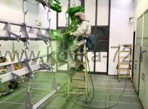 процесс нанесения порошковой покраски